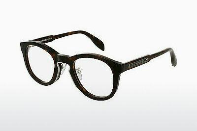 Eyewear Alexander McQueen AM0049O 004 - Brown, Havanna