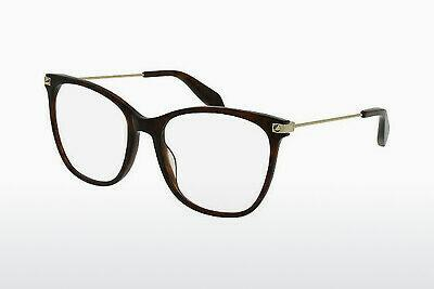 Eyewear Alexander McQueen AM0089O 004 - Brown, Havanna