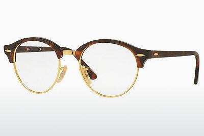 Eyewear Ray-Ban Clubround (RX4246V 2372) - Brown, Havanna