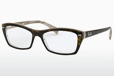 Eyewear Ray-Ban RX5255 (51) (RX5255 5075) - Brown, Havanna, Transparent