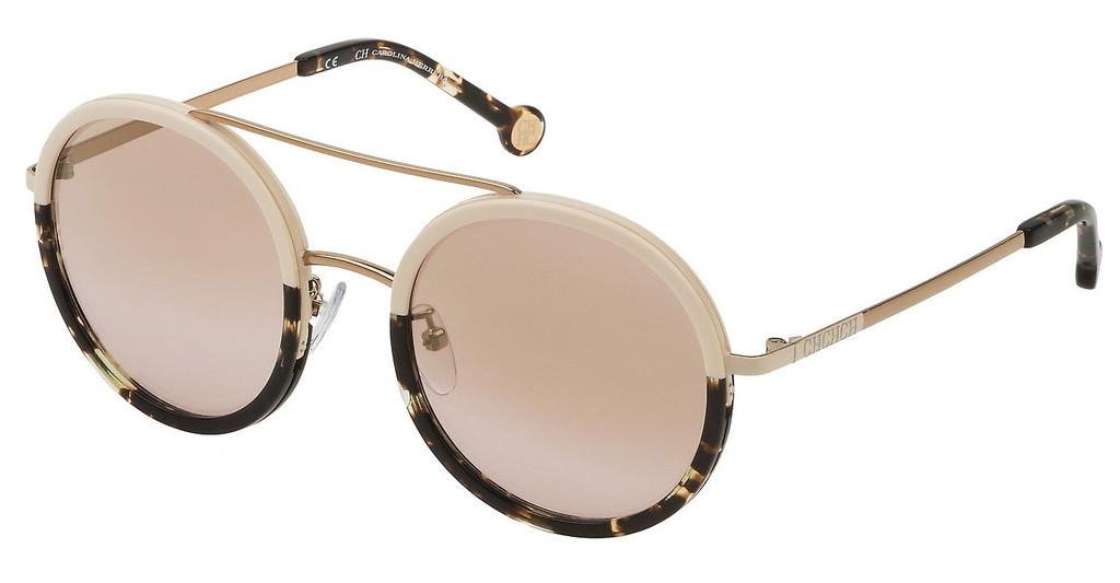 Carolina Herrera   SHE121 8M6G BROWN GRADIENT MIRROR GRAD.GOLDCAMMELLO TAN LUCIDO C/PARTI COLORATE