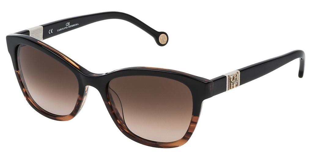 Carolina Herrera   SHE698 0GEQ BROWN GRADIENTNERO SFUM.MARRONE/OCRA STRIATO