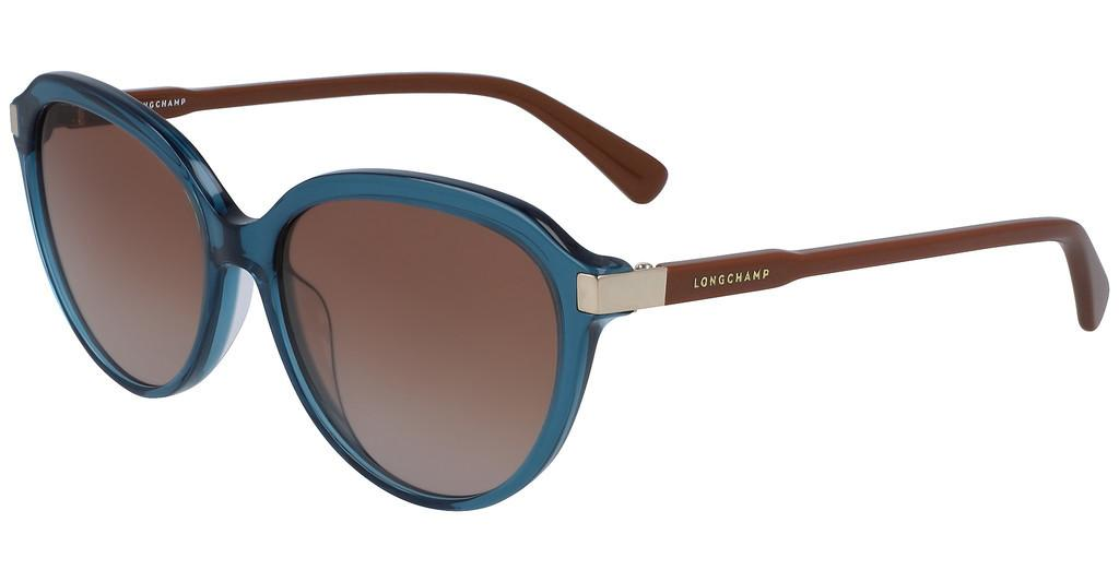 Longchamp   LO640S 427 BLUE/BROWN PLIAGE