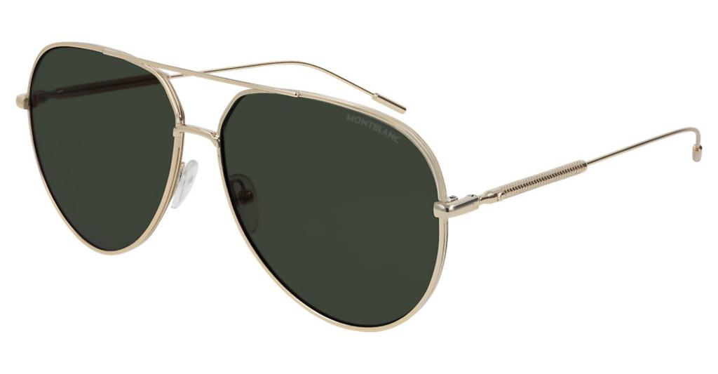 Mont Blanc   MB0045S 002 GREENGOLD