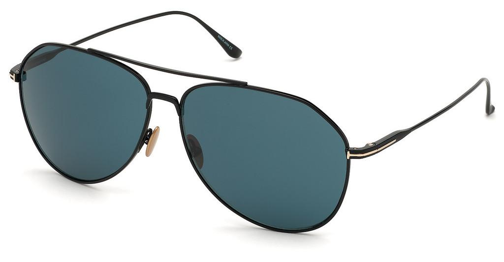 Tom Ford   FT0747 01V blauschwarz glanz