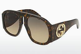 Ophthalmic Glasses Gucci GG0152S 004 - Brown, Havanna