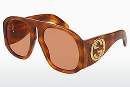 Ophthalmic Glasses Gucci GG0152S 005 - Brown, Havanna