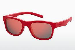 Ophthalmic Glasses Polaroid Kids PLD 8020/S/SM C9A/OZ - Red
