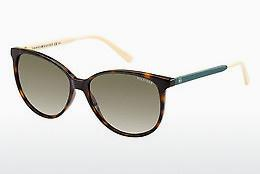 Ophthalmic Glasses Tommy Hilfiger TH 1261/S 4LV/HA - Brown, Havanna
