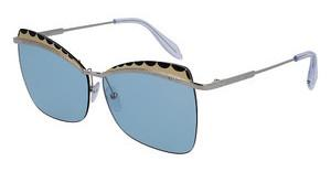 Alexander McQueen AM0059S 002 LIGHT BLUESILVER