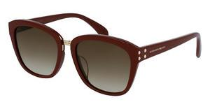 Alexander McQueen AM0063SK 004 BROWNRED