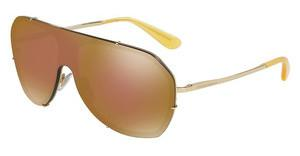 Dolce & Gabbana DG2162 02/F9 BROWN MIRROR GOLDGOLD
