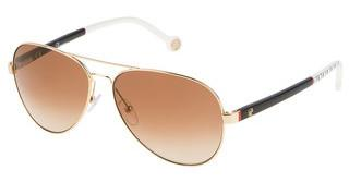 Carolina Herrera SHE070 300G BROWN GRADIENT/MIRROR GOLDORO ROSE' LUCIDO