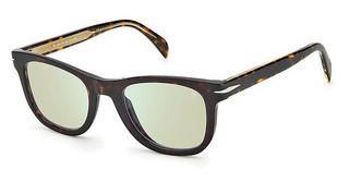DAVID BECKHAM Sunglasses DB 1006//S  086//QT Havana green