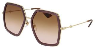 Gucci GG0106S 004 BROWNPINK