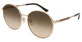 Gucci GG0206SK 003 BROWNGOLD