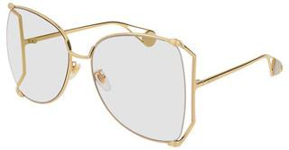 Gucci GG0252S 001 TRANSPARENTGOLD