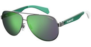 Polaroid Kids PLD 8034/S 1ED/5Z GREY MLT GREENGREEN