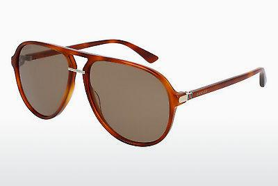 Ophthalmic Glasses Gucci GG0015S 003 - Brown, Havanna