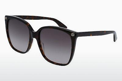 Ophthalmic Glasses Gucci GG0022S 003 - Brown, Havanna