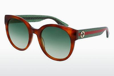 Ophthalmic Glasses Gucci GG0035S 003 - Brown, Havanna