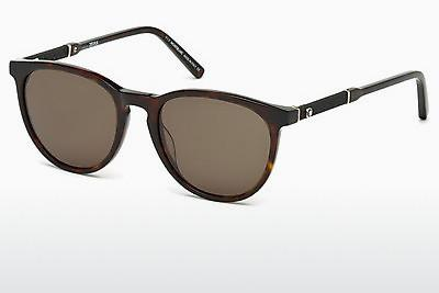 Ophthalmic Glasses Mont Blanc MB588S 52E - Brown, Dark, Havana