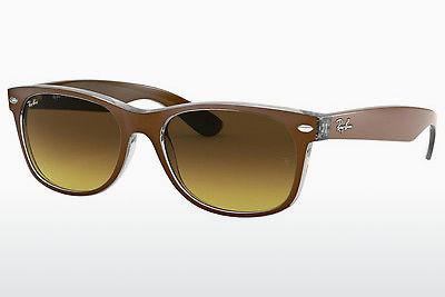 Ophthalmic Glasses Ray-Ban NEW WAYFARER (RB2132 614585) - Brown, Transparent