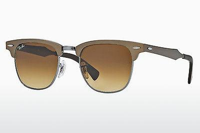 Ophthalmic Glasses Ray-Ban CLUBMASTER ALUMINUM (RB3507 139/85) - Brown, Grey