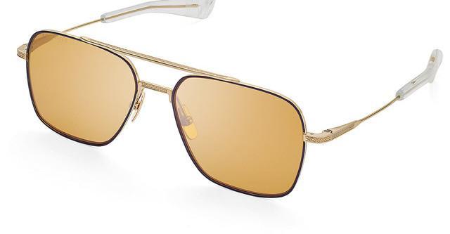 DITA FLIGHT SEVEN Sunglasses Black Gold Brown Polarized Lens DTS111-57-04 NEW