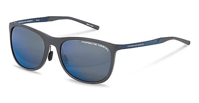 Porsche Design Sunglasses P8672 B Matte Grey Blue Mirror