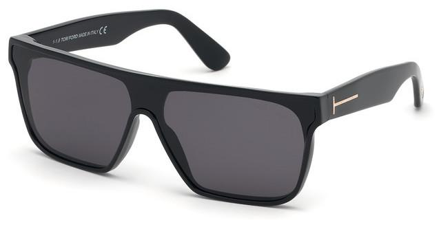 Authentic Tom Ford WYHAT FT 0709 01A Black Sunglasses