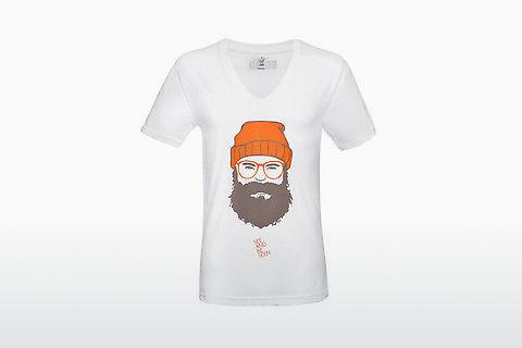 Edel-Optics T-Shirt SABS #MAN (V-Neck) weiß